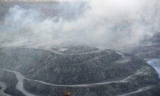 Virš kasyklos kyla asbesto dulkės