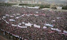 Protestai prieš Saudo Arabijos oro antskrydžius