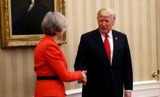 Theresa May ir Donaldas Trumpas