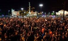 Protestai Budapešte dėl Centrinės Europos universiteto uždarymo