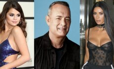 Selena Gomez, Tomas Hanksas, Kim Kardashian