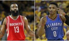 Jamesas Hardenas ir Russellas Westbrookas (AP ir Reuters nuotr.)