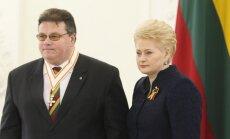 Dalia Grybauskaitė ir Linas Linkevičius