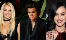 Britney Spears, Harry Styles ir Katy Perry. AFP/Scanpix ir AP/Scanpix nuotraukos
