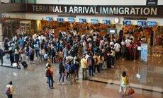 At immigration desk