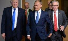 D. Trumpas, D. Tuskas ir J.-C. Junckeris