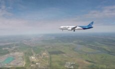 Pirmasis rusų lėktuvo MS-21 skrydis truko pusvalandį