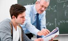 Matematikos mokytojas ir mokinys