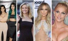 K. Kardashian, K. Jenner, R. Witherspoon, J. Lopez, B. Spears