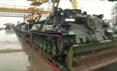 Vokietijos karinės technikos atvykimo į Lietuvą akimirkos