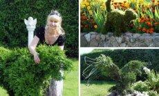 Topiary menininkė Ratkelienė ir jos kūriniai