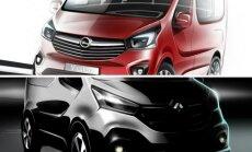 Opel Vivaro ir Renault Trafic eskizai