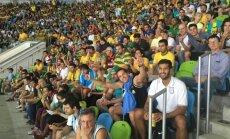 Brazilijos ir Argentinos krepšinio sirgaliai