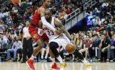 NBA, Atlantos Hawks - Klivlando Cavaliers mačo akimirka