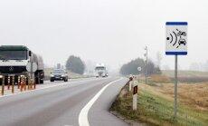 Šiuo metu vidutinis greitis matuojamas vienoje atkarpoje Via Baltica kelyje