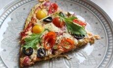 Pica su žiedinio kopūsto ir brokolio padu