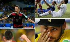 Miroslavas Klose, Luisas Suarezas, Jamesas Rodriguezas ir Neymaras (DELFI montažas)