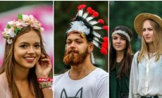 Galapagų festivalio lankytojai