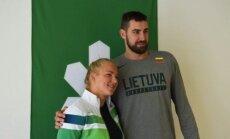Rūta Meilutytė ir Jonas Valančiūnas