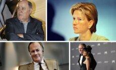 Amancio Ortega; Susanne Klatten; Stefanas Perrsonas; Francois Pinaultas su žmona Selma Hayek
