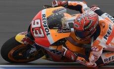 Ispanas Marcas Marquezas su Honda motociklu