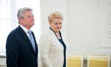 Joachim Gauck and Dalia Grybauskaitė