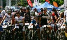 MTB dviračių taurės varžybų dalyviai
