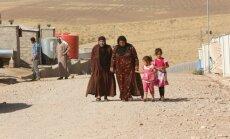 Iš Mosulo pabėgę gyventojai
