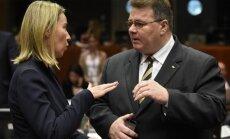 Federica Mogherini, Linas Linkevičius