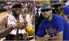 LeBronas Jamesas ir Stephenas Curry (AP ir AFP nuotr.)