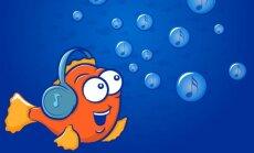 Žuvis klausosi muzikos