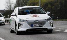 Nugalėtojai važiavo Hyundai Ioniq automobiliu