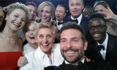 Jaredas Leto, Jennifer Lawrence, Meril Streep, Ellen DeGeneres, Kevinas Spacey, Braddas Pitas, Angelina Jolie, Lupita Neyiong'o, Bradley Cooperis