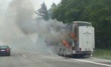 Autobuso gaisras (asociatyvi nuotrauka)
