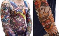 Užtempiamos rankų tatuiruotės