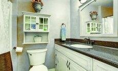 Mažo vonios kambario sprendimai: kaip atrasti vietos daiktams