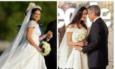 Princesės Madeleine ir Amal Alamuddin su nuotakos suknelės (People nuotr.)