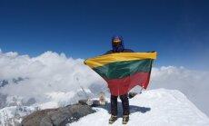Dovilė Garlaitė 7495 m. aukščio I.Somoni viršukalnėje