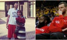 Donatas Motiejūnas pateikė gimtadienio siurprizą savo mamai (Facebook, AFP-Scanpix nuotr.)