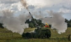 German PzH2000 shooting for the first time in Lithuania