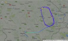 """Iš Kauno pakilęs """"Aeroflot"""" lėktuvas suko ratus aplink Uteną"""