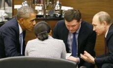 Barackas Obama, Vladimiras Putinas, Susan Rice ir vertėjas