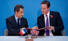 Nicolas Sarkozy ir Davidas Cameronas
