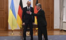 Ukrainos premjeras Arsenijus Jaceniukas susitiko su Vokietijos prezidentu Joachimu Gaucku