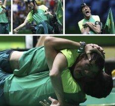 Jautru iki sielos gelmių: Rio – cerebrinio paralyžiaus ištikto brazilo euforija laimėjus auksą
