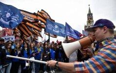 Paradoksas: dauguma rusų neitų į prezidento palaikymo akcijas