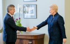 Viktoras Pranckietis ir Dalia Grybauskaitė