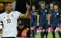 Lukas Podolskis ir Anglijos futbolo rinktinė