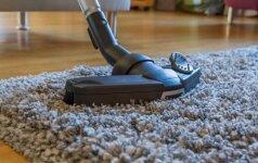 6 dažniausiai daromos klaidos valant kilimą namuose
