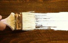 Kaip dažyti spinteles, kad nesimatytų potėpių